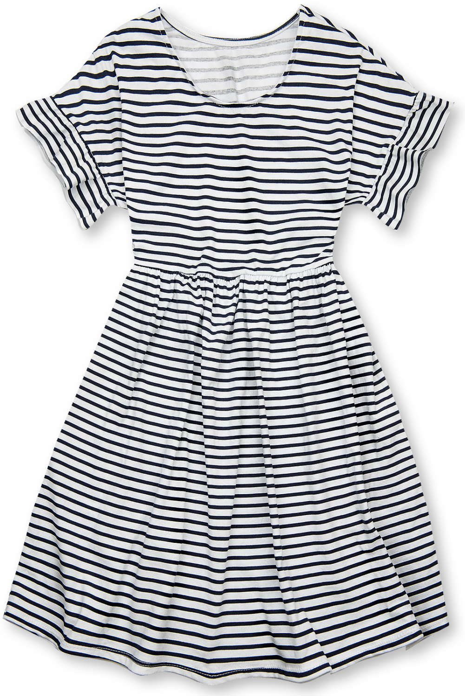E-shop Modro-bílé volné pruhované šaty III.