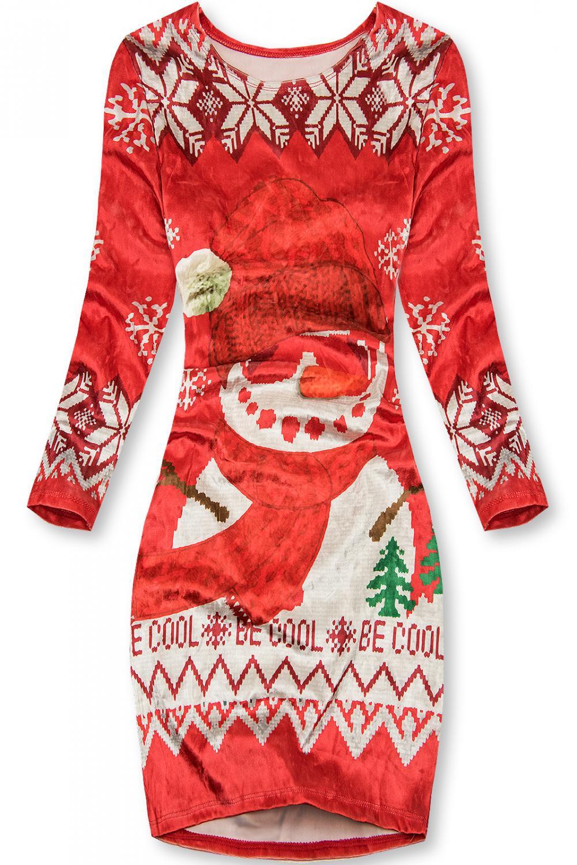 E-shop Sametové šaty BE COOL