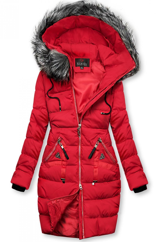 E-shop Zimní prošívaná bunda červená