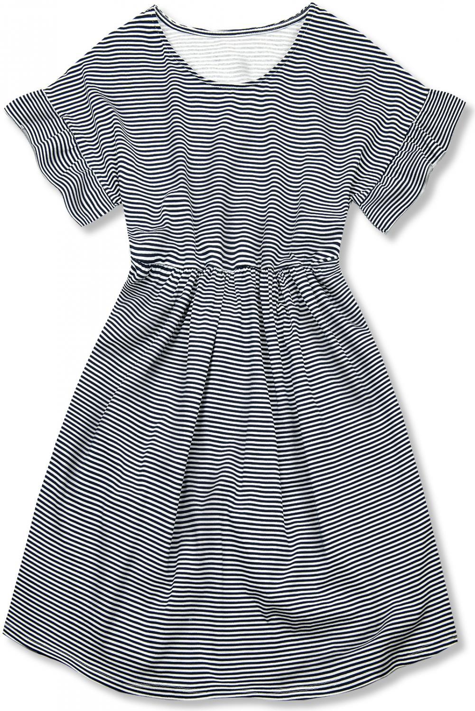 E-shop Modro-bílé volné pruhované šaty IV.