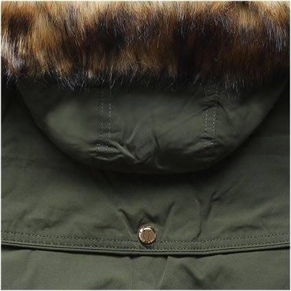 Khaki zimní parka s odnímatelnou podšívkou