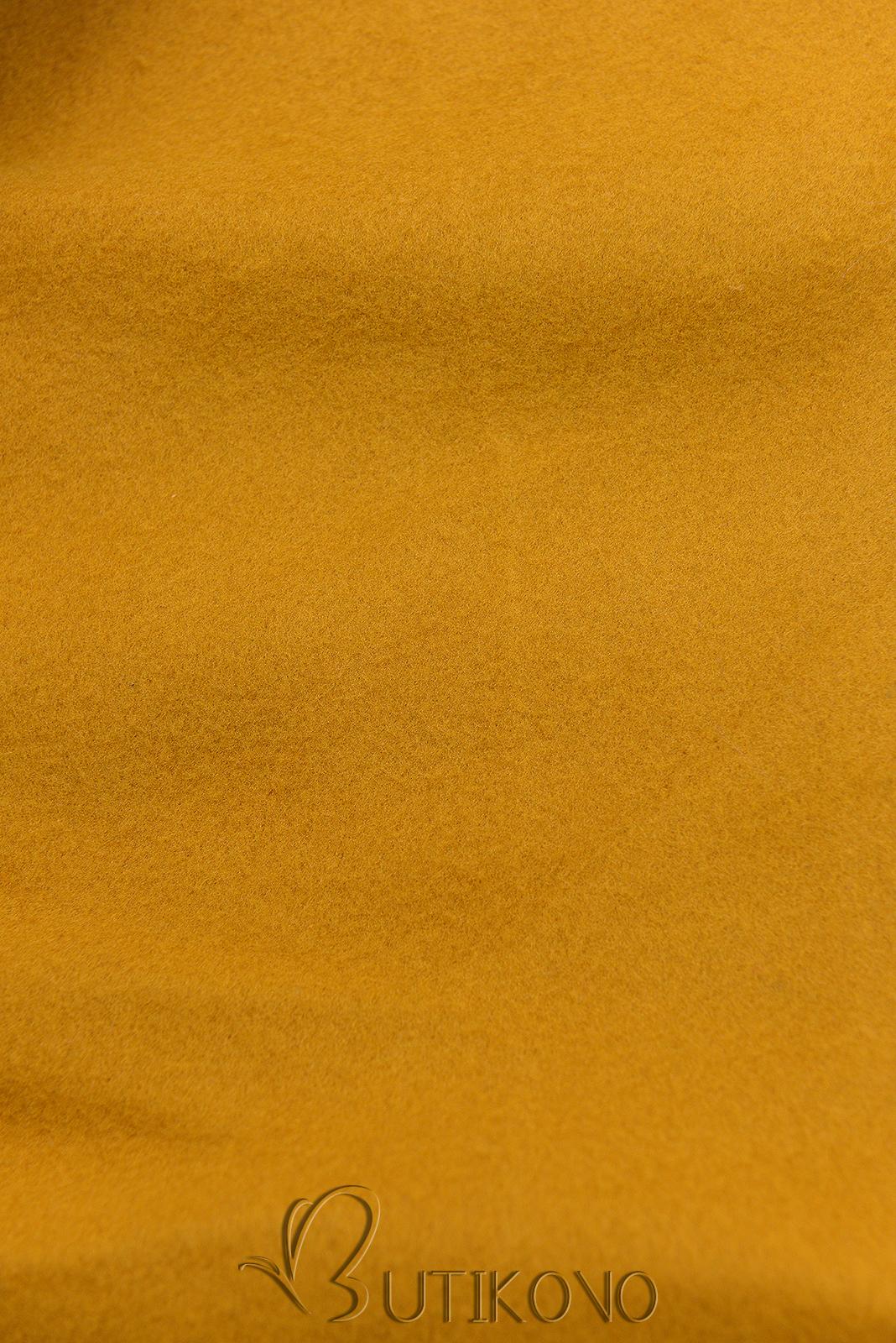 Mustard prodloužená mikina od LHD
