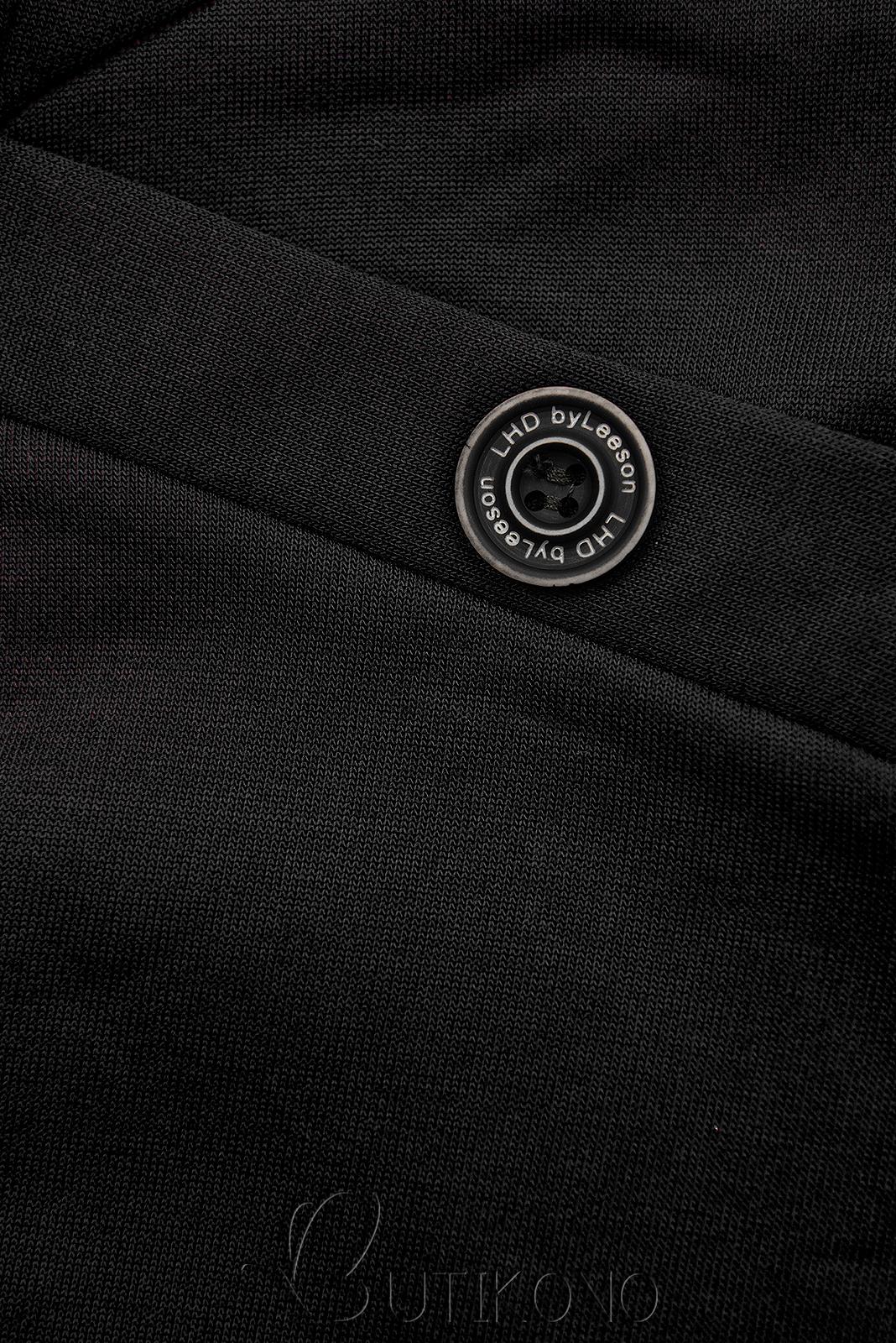 Černá mikina se vzorovanou kapucí