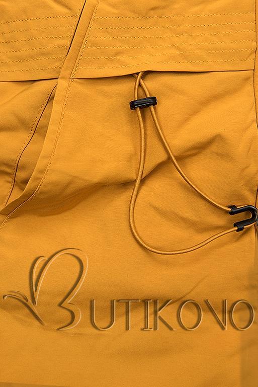 Žluto-černá oboustranná zimní bunda