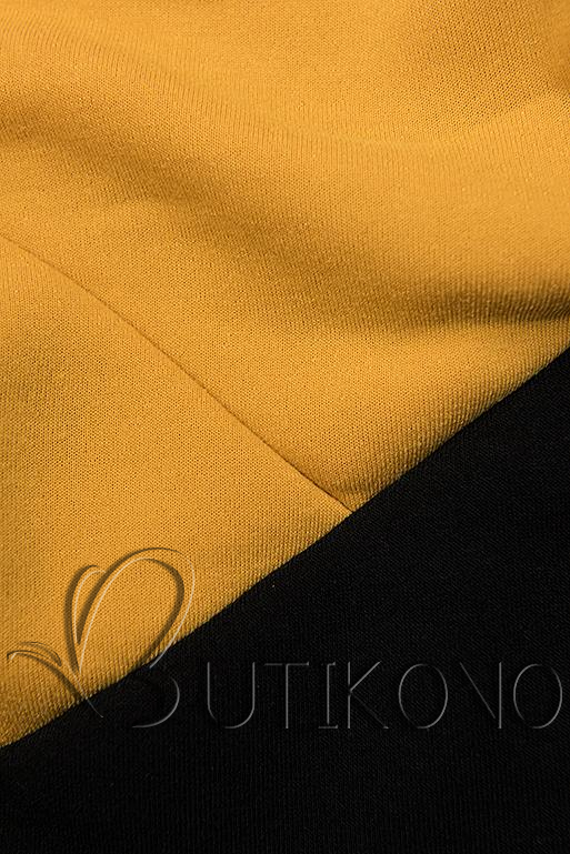 Tepláková souprava černá/žlutá