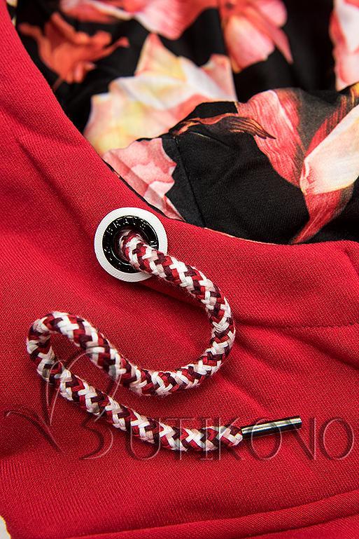 Mikina s pruhy červená/černá