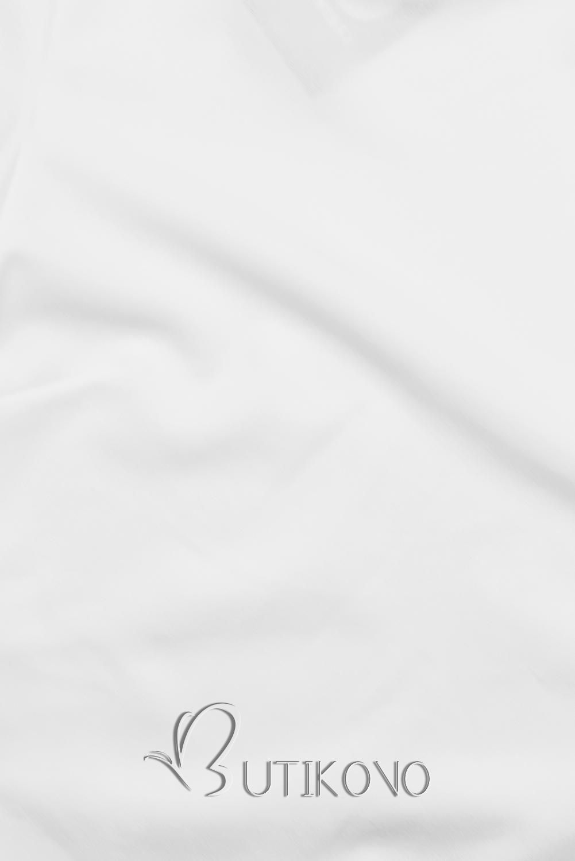 Bílý top s dlouhými rukávy