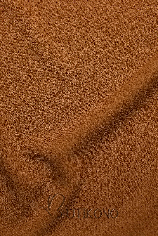 Hnědý top s dlouhými rukávy