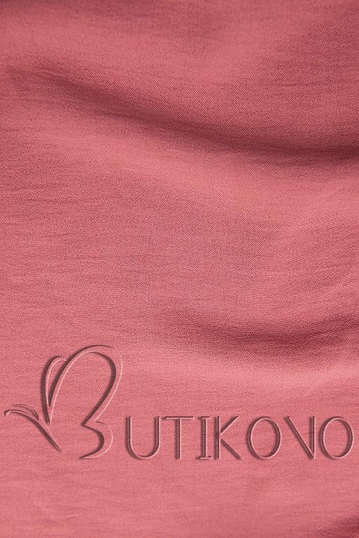 Tmavě růžová halenka s volánem