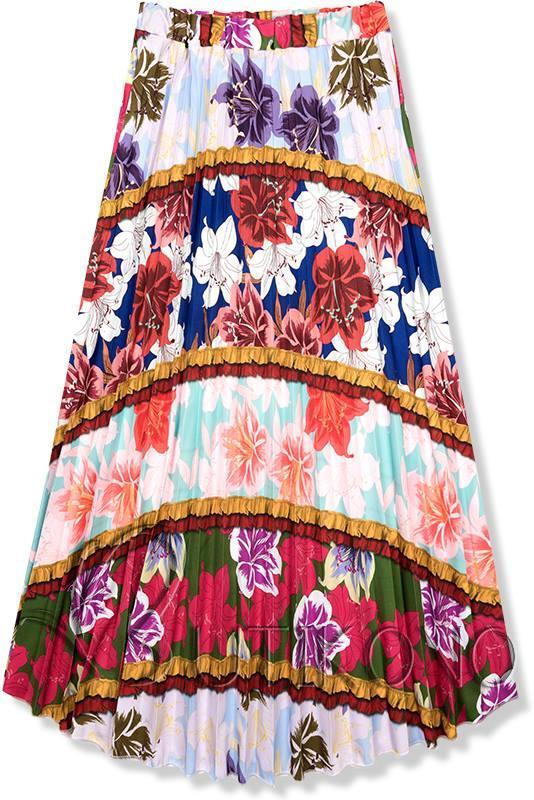 Květinová maxi sukně II.