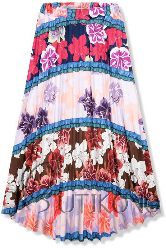 Květinová maxi sukně I.