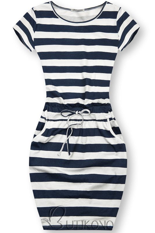 Pruhované bavlněné šaty X.