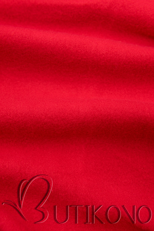 Červená mikina v asymetrickém střihu