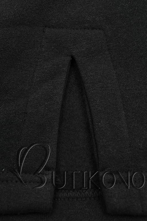 Černá dlouhá mikina bez zapínání