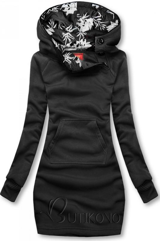Černá mikina s oblékáním přes hlavu