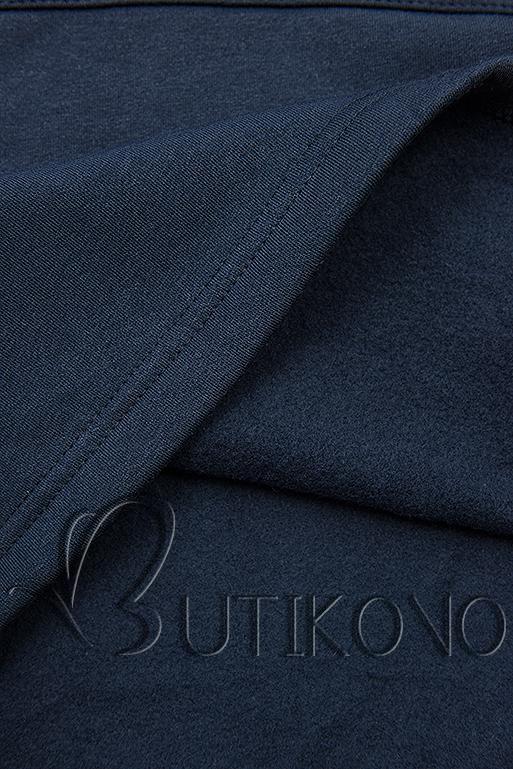 Tmavě modrá mikina s oblékáním přes hlavu