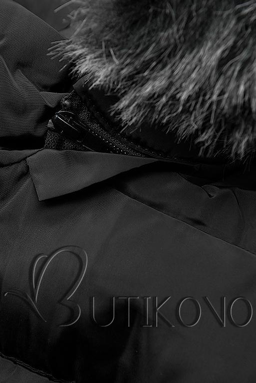 Černá bunda s odepínatelnou kapucí