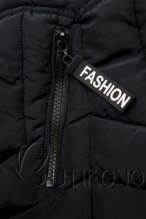 Tmavě modrá zimní bunda FASHION