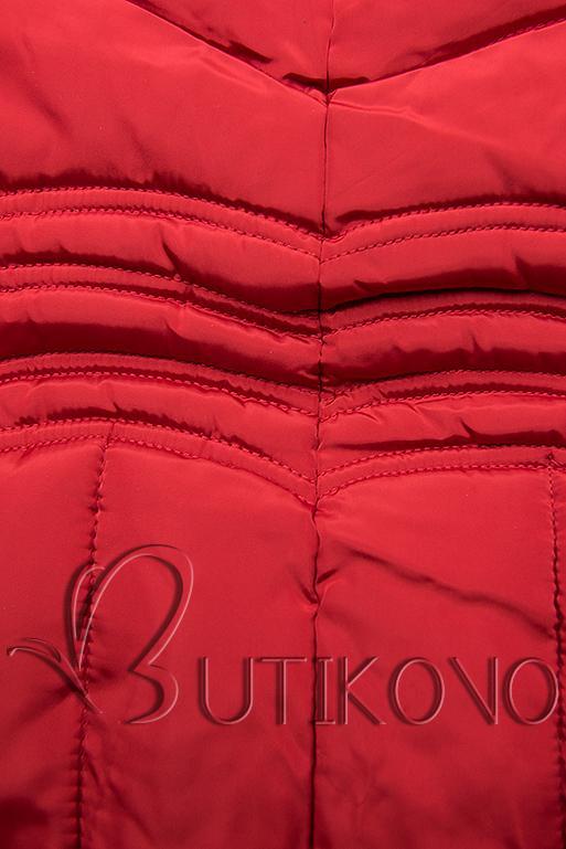 Červená zimní bunda FASHION