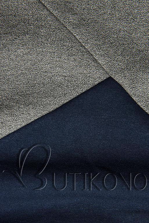 Mikina s oblékáním přes hlavu modrá/šedá/černá
