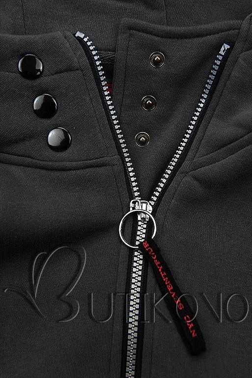 Černá mikina na zip