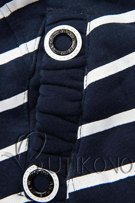 Pruhovaná mikina tmavě modrá