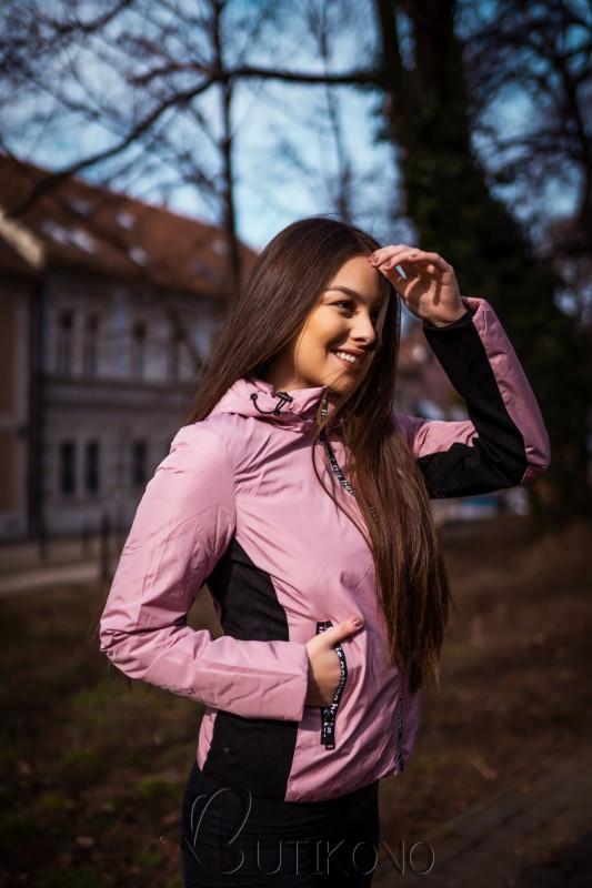 Růžová sportovní oboustranná bunda