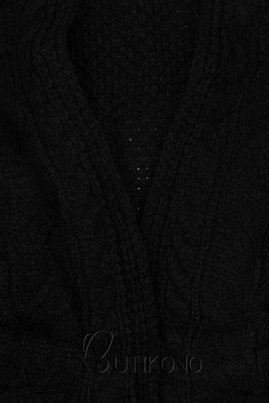 Černý krátký kardigan