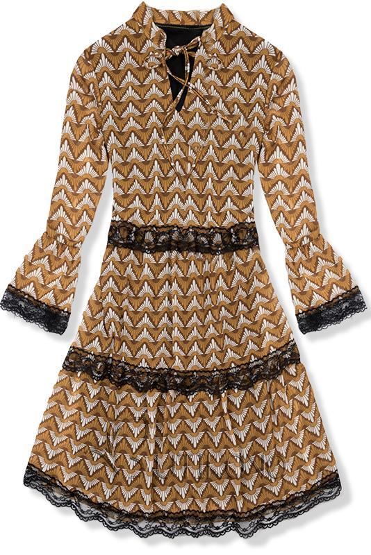 Vzorované šaty žluto-černé