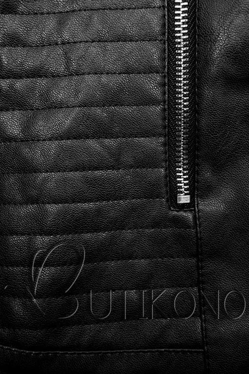 Černá koženková bunda
