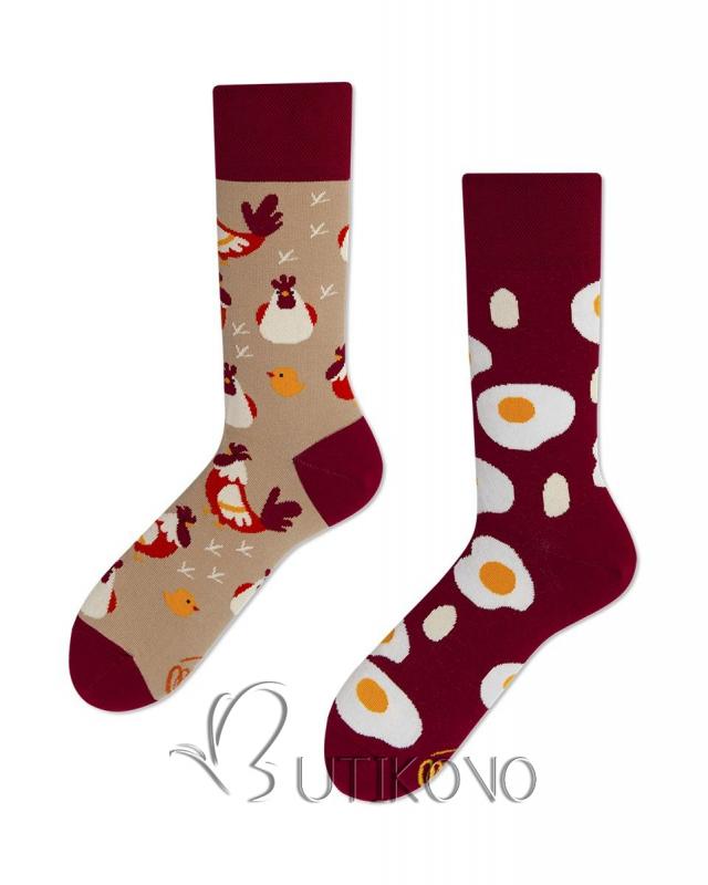 Ponožky Vejce a Slepice od Many Mornings