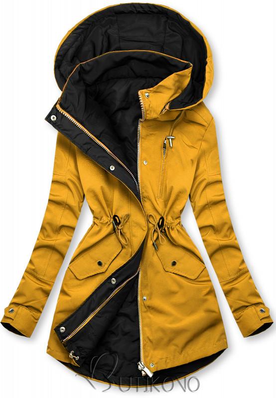 Oboustranná bunda žlutá/černá