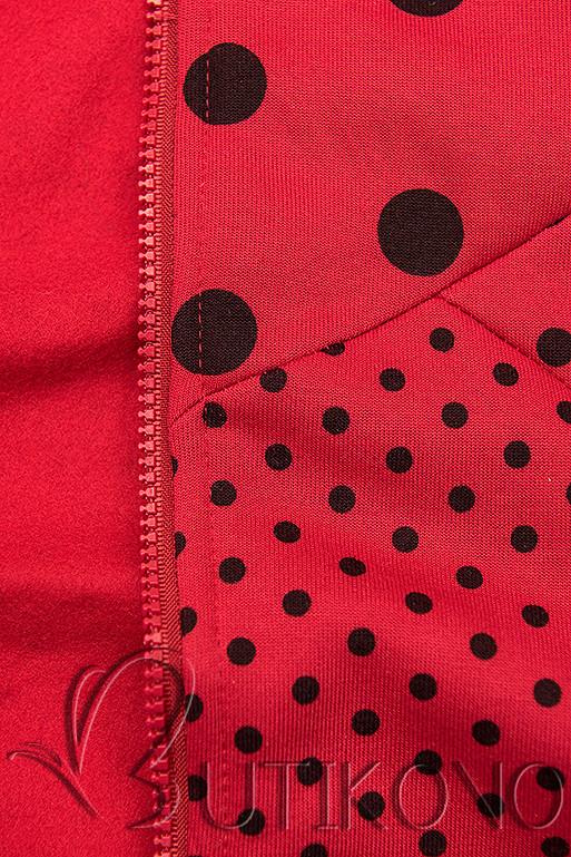 Tečkovaná tepláková souprava červená/černá