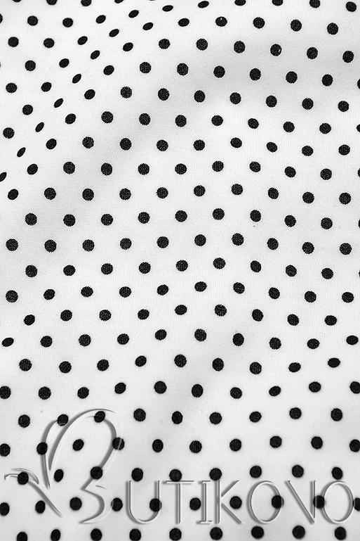 Tečkovaná tepláková souprava bílá/černá