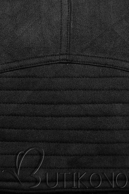 Černá semišová bunda