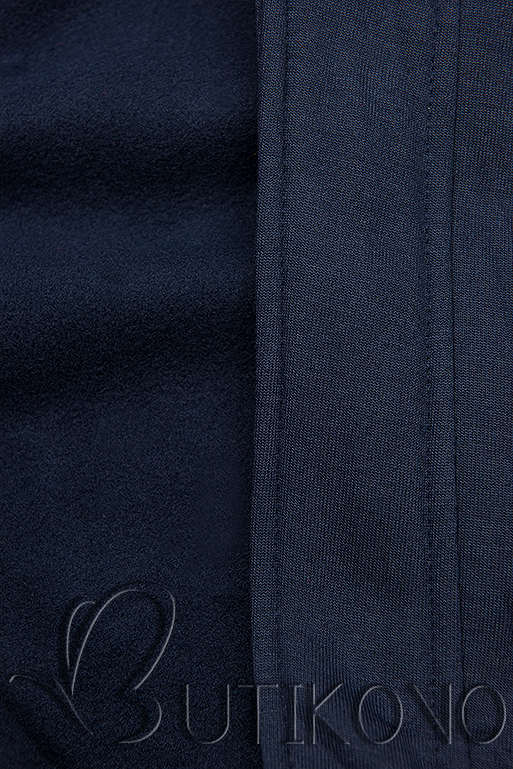Tmavě modrá mikina v asymetrickém střihu