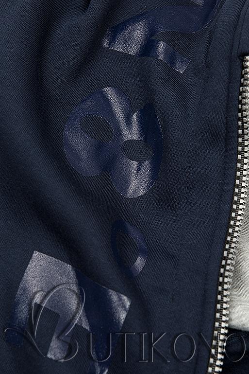 Tepláková souprava s kapucí tmavě modrá
