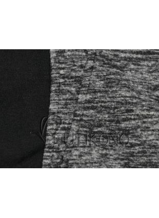 Grafitová mikina s kontrastním zipem