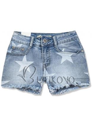 Jeans šortky s potiskem