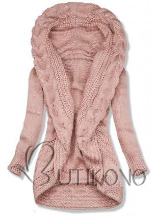 Růžový pletený svetr