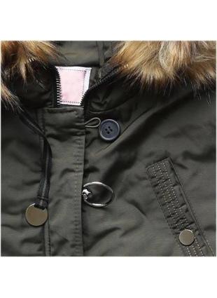 Prošívaná zimní bunda khaki