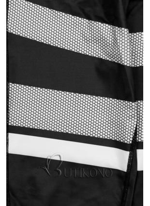 Černobílé vzorované legíny