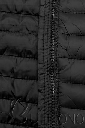 Černá prošívaná přechodná bunda