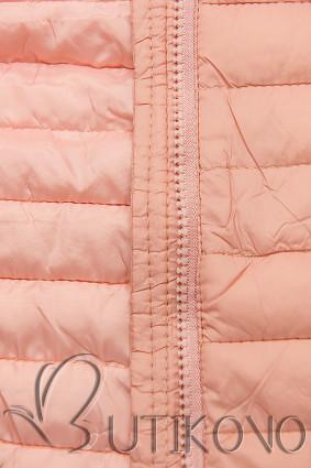 Světle růžová prošívaná přechodná bunda
