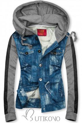 Jeans šedá mikina D402