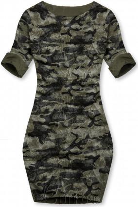 Khaki ležérní army šaty