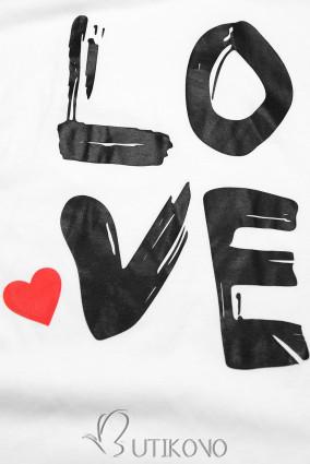 Tunika s potiskem LOVE bílá