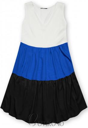 Letní šaty z viskózy bílá/modrá/černá