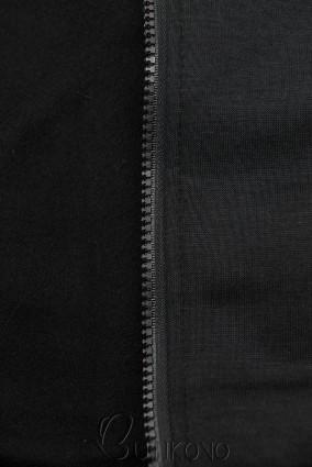 Černá mikina s dvoucestným zipem