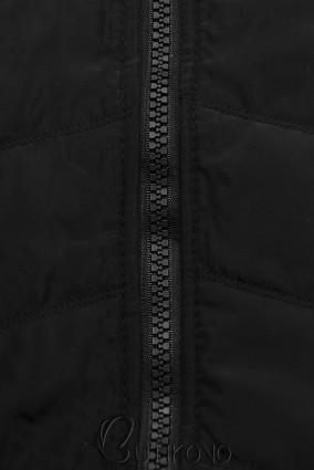 Černá mikina s kombinovanými materiály